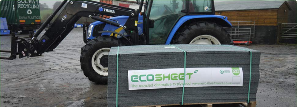 EcoSheet Alternative Recycled Plastic Boards At Solway Recyclings Rigghead Site
