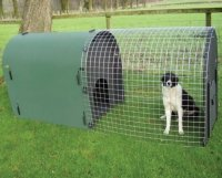 deluxe dog kennel from recycled plastic