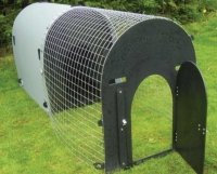 deluxe dog kennel with bigger run door for larger dogs