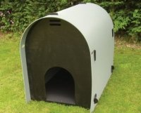 Durable recycled plastic easy cleaned plastic dog house