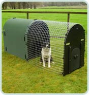 recycled plastic deluxe dog kennel green