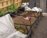 deluxe plastic raised beds with protector frames