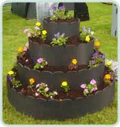 recycled plastic circular tower raised bed