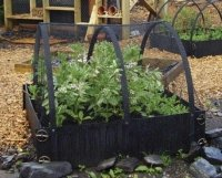 recycled plastic deluxe raised beds with frames
