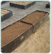 Inter Raised Beds In A Row