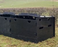 recycled plastic outdoor sheep pens with roof