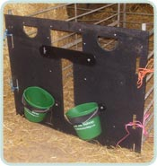 plastic lamb adopter feeder front