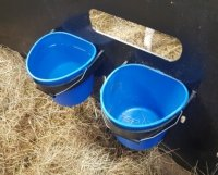 recycled plastic bucket holders sheep calf pens 2 popup