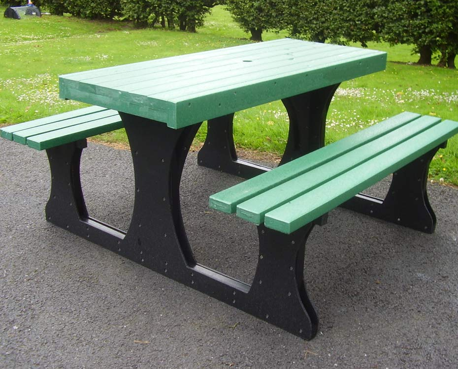 solway products picnic tables recycled plastic picnic table. Black Bedroom Furniture Sets. Home Design Ideas