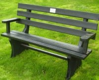 solway memorial bench made from recycled plastic with memorial plaque