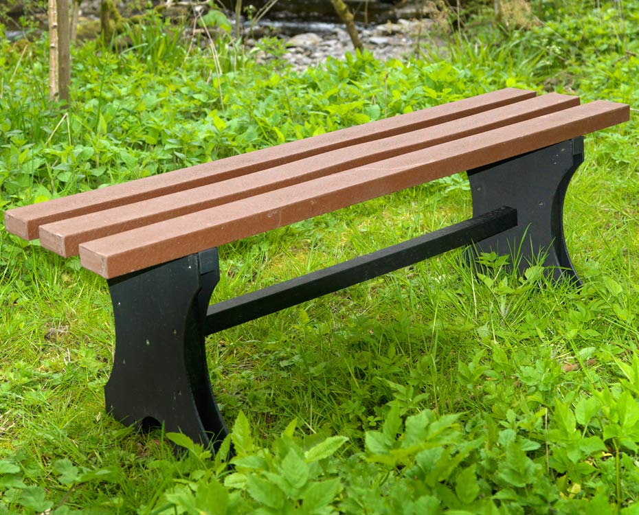 Recycled Plasic Bench Backless