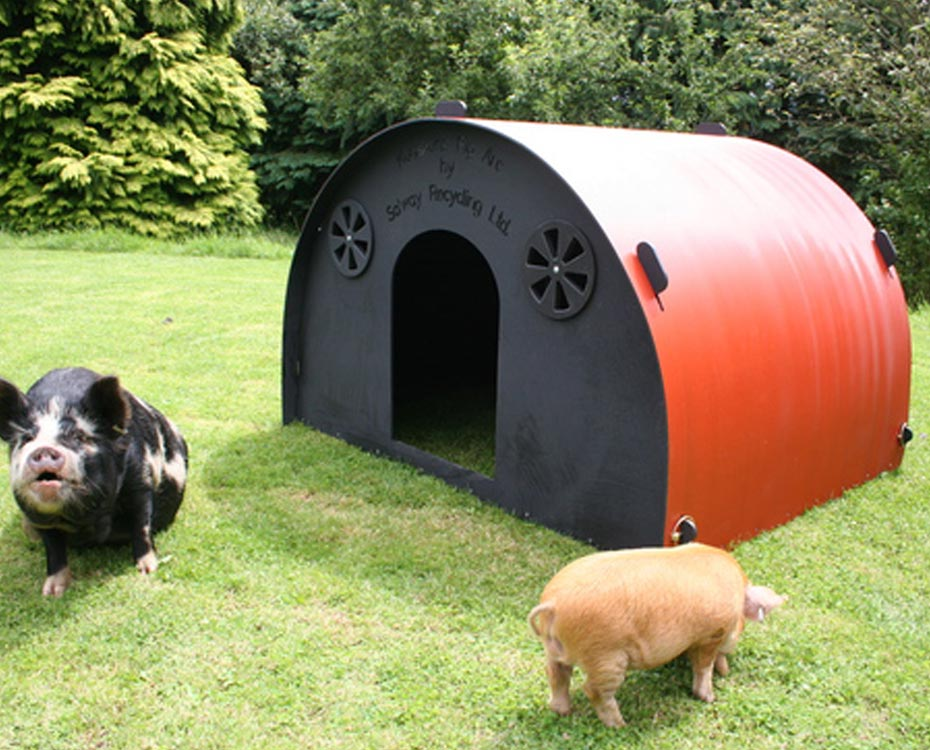 5ft By 4ft Pig Ark With Kune Kune Opening